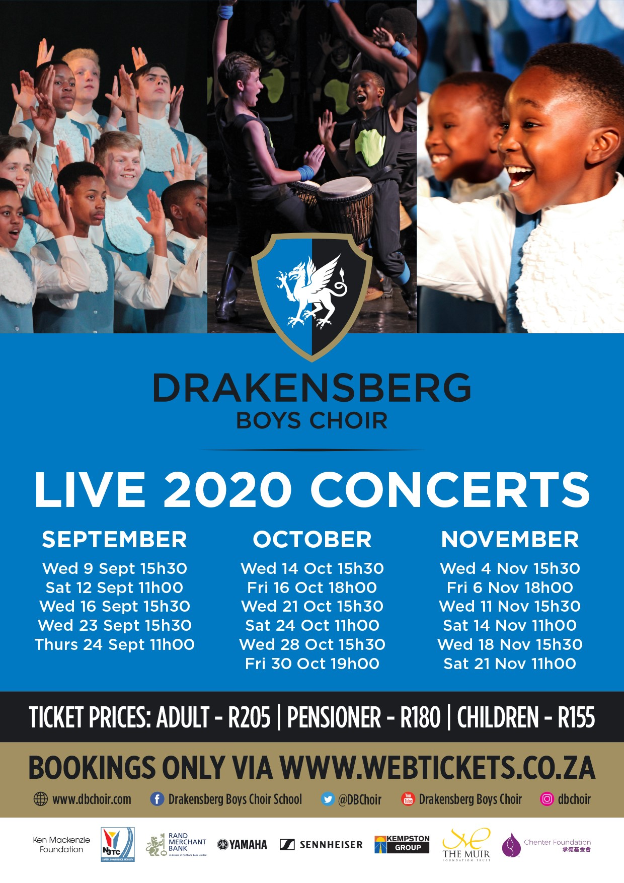 drakensberg boys choir concert schedule 2020