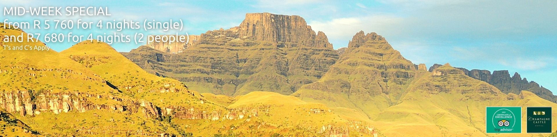 mid-week special in the drakensberg